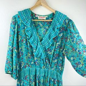 VINTAGE Assorti for Susan Freis Floral Maxi Dress